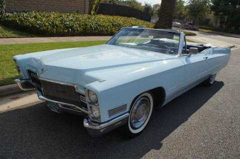 1968 Cadillac de Ville Convertible na prodej