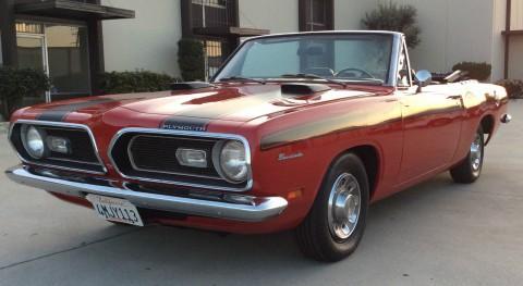 1969 Plymouth Barracuda Convertible na prodej